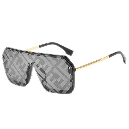 Jeewly Klassische Sportsonnenbrille, Oversized Square Sunglasses Women Large Frame Luxury Designer Sun Glasses Men UV400