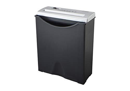 Dahle Aktenvernichter PaperSAFE 22016 (4 Blatt, Stufe P-1, Streifenschnitt, 9 Liter Papierkorb) schwarz-silber