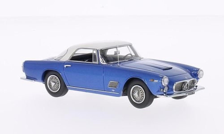 Maserati 3500 GT Touring, metallic-blau weiss, 1957, Modellauto, Fertigmodell, Neo 1 43