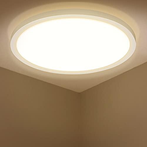 LED Deckenleuchte, BIGHOUSE 18W 1600LM Deckenlampe, 3000K Warmweiß für Badezimmer, Wohnzimmer, Balkon, Flur Küche, Ø295×25mm