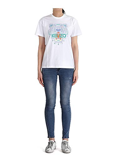 Kenzo Tiger 2TS959 4YA - Camisetas para mujer Blanco L