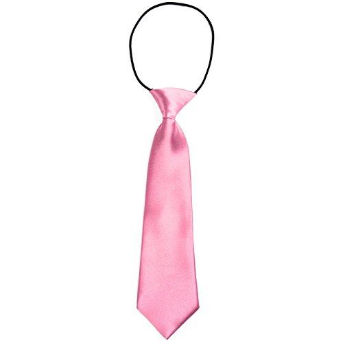 DonDon Corbata para niños con aire de seda y con elástico brillado 2-7 años - rosa fucsia