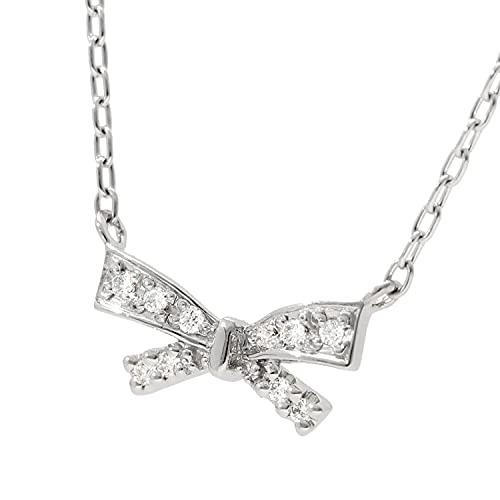 [スイートテンダイヤモンド]Sweet 10 Diamond ネックレス 正規品 レディース リボン ダイヤモンドネックレス プラチナ pt900