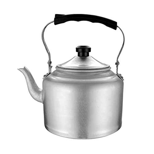 Cabilock Aluminum Tea Kettle Stovetop Teapot with Ergonomic Handle Tea Pot Water Kettle with Large Capacity for Tea Coffee Office Home Outdoor (3L)