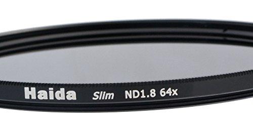 Slim Graufilter ND64-58mm.Schlanke Fassung + Pro Lens Cap mit Innengriff