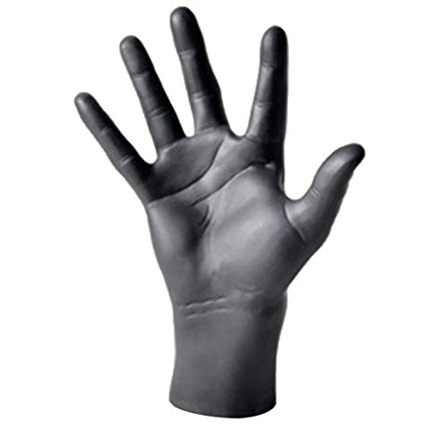 Taotenish Male Hand Mannequin Hands Model Display Gloves Jewelry Model Stand for Home Decor/Jewelry Store - Black