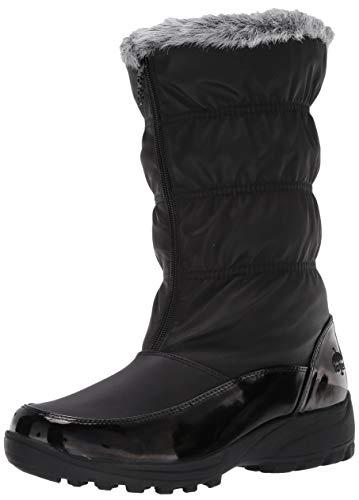 totes Botas de nieve Carmela fruncidas para mujer, disponible en ancho ancho, negro (Negro), 40 EU