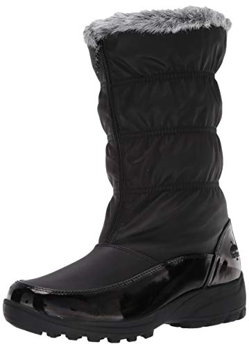 totes Women's Bootie Snow Boot, Black, 9 Wide