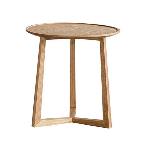 Carl Artbay Home&Selected forniture/White Oak massief hout bijzettafel Chinese retro salontafel slaapkamer nachttafel hoekbank 52 * 52cm