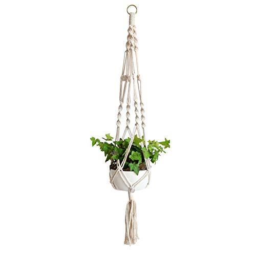 YANGMAN Plant Hanger Suspension, Plante Macramé Corde Fleur Pot Plante Suspendue Porte-Panier Holder Porte-clés Suspendue Décoration Balcon Maison,L65cm
