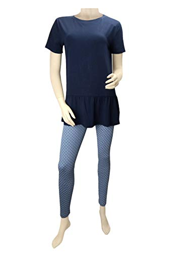 Tchibo TCM Damen Schlafanzug mit 7/8 Leggings (S 36/38)