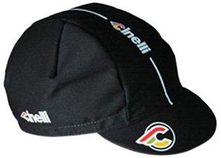 Cinelli Supercorsa, Cappello con visiera in cotone, Nero, taglia unica