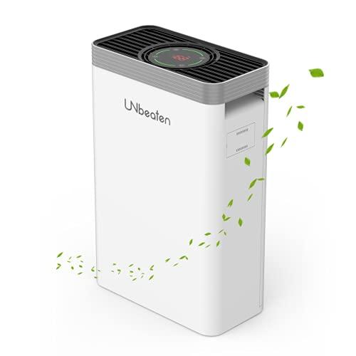 Luftreiniger, UNbeaten Air Purifier mit H13 HEPA Filter, für Wohnung bis zu 68m², Luftfilter mit 99,97 % Filterleistung, gegen Rauch Staub Gerüche Pollen Allergene