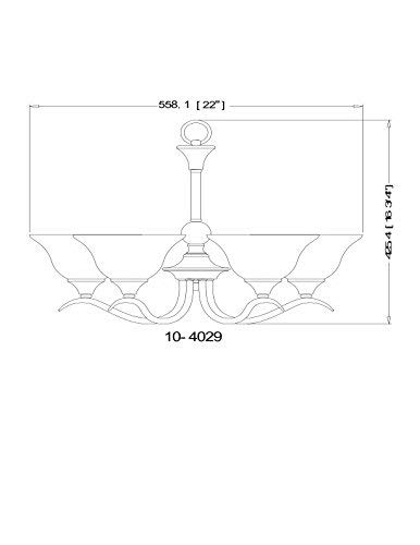 Hardware House H10-4029 Dover Chandelier, 22