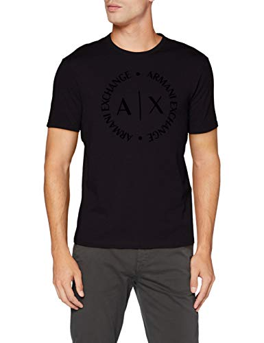 Armani Exchange 8nztcd Camiseta, Negro (Black 1200), Medium para Hombre