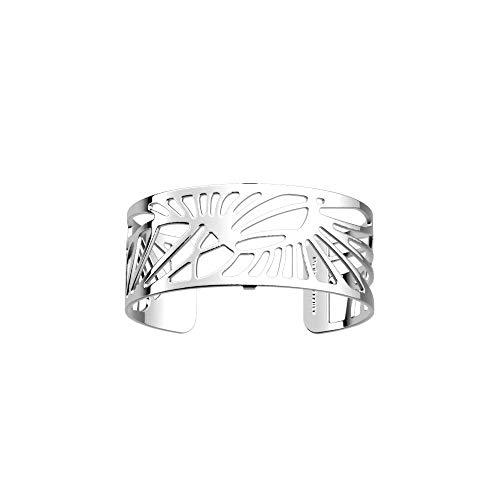 Les Georgettes Damen Armreif - Les Essentielles Palmeraie Palmenhain - Medium, Farbe:Silber, Armreif-Breite:25mm