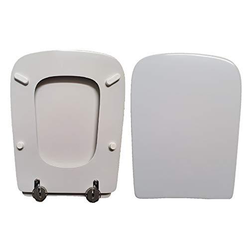 WC-Sitz Stone Globo, kompatibel mit weißem Hochglanz-Polyester.
