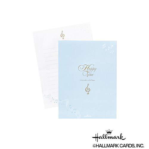 シンプルなデザインが使いやすい便箋。 Hallmark ホールマーク 便箋 パッド ミュージック 6セット 747329 〈簡易梱包