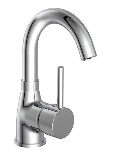 EISL Waschtischarmatur FUTURA Niederdruck, energiesparende Waschbeckenarmatur, 360° schwenkbarer Wasserhahn Bad, Einhebelmischer, NI075FUTCR-LP, Chrom