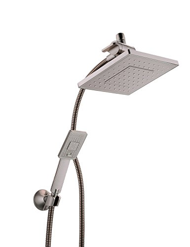 Bright Showers Rain Shower head with Handheld Spray 5 ft....