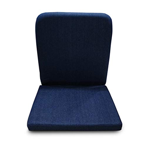 Kawachi Right Angle Back Support Portable Relaxing Folding Yoga Meditation Chair (Darkblue)