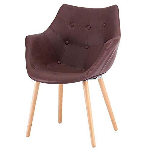 FENG Ergonomische bureaustoel Lederen Accent Chair Gestoffeerde Pub Barrel Chair Fauteuil Casual Receptie Stoel Eetstoel Bureau Stoel