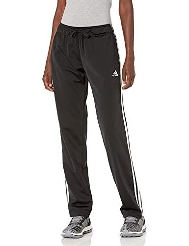 adidas Women's Standard Warm-Up Tricot Regular 3-Stripes Track Pants, Black, XX-Large