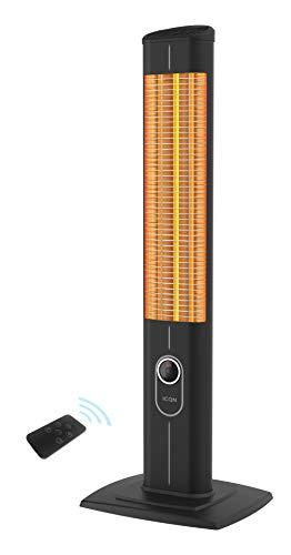 ICQN Stand Heizstrahler mit Fernbedienung | 2500 Watt | Infarot | Infarotheizung für Innen- & Außenbereich | Standheizstrahler | Standgerät | IP20 | Digitalanzeige | IC2500.RB