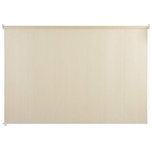 PHI VILLA Outdoor Patio Sun Shade Roller Shade 8ft(W) by 6ft(H) Wheat