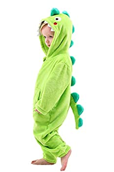 Boys  Girls  Costume Onesies Dinosaur Soft One Piece Animal Pajamas for Kids Holiday Birthday Gift  Green 2-3 Years