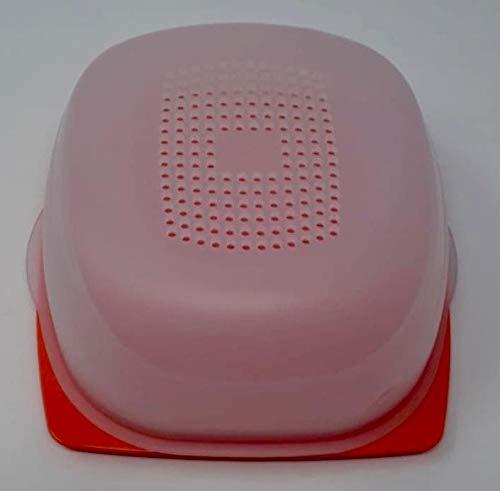 Tupperware A137 - Recipiente para queso (tamaño pequeño), color naranja transparente