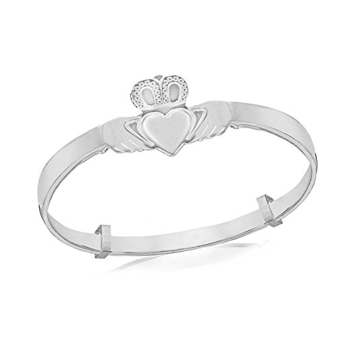 Tuscany Silver Kinder Armreif Sterling Silber Claddagh Baby