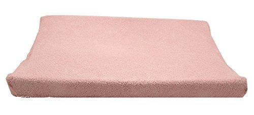 Ti TIN - Funda para Cambiador de Bebé con Tejido Elástico Adaptable 100% Microfibra Suave y Absorbente, 80x50 cm, Color Rosa