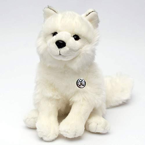 Arktischer weißer Wolf ISHTA Polarwolf 24 cm sitzend Plüschtier Plüschwolf Samojede von Kuscheltiere.biz