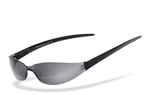 HELLY® - No.1 Bikereyes® | Bikerbrille, Motorrad Sonnenbrille, Chopper Brille | WELTREKORD: Die wohl kleinste Bikerbrille der Welt | beschlagfrei, windabweisend, bruchsicher | TOP Tragegefühl
