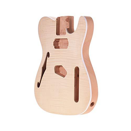 Muslady Corpo della chitarra Incompiuto Legno di mogano vuoto Guitar Barrel per Stile TELE Chitarre elettriche Parti fai-da-te TL-FT03