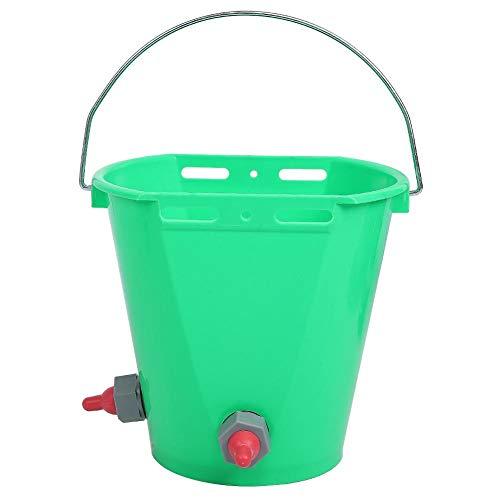 wosume 【𝐕𝐞𝐧𝐭𝐚 𝐑𝐞𝐠𝐚𝐥𝐨 𝐏𝐫𝐢𝐦𝐚𝒗𝐞𝐫𝐚】 Cubo de alimentación de Leche para alimentación de Ganado, con Escala HL-MP69 Cordero Verde para Ternero de Ganado(Two Mouths)