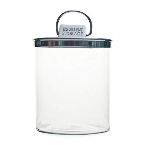 Riviera Maison - Vorratsglas, Dose - Excellent Storage - Aluminium, Glas - 18 x 23,5 cm