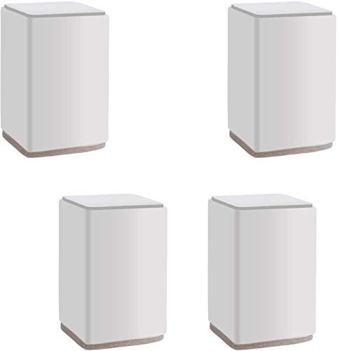 XJRHB 4 Stücke Möbel Lift Risers Kohlenstoffstahl Bett Risers, Selbstklebende Hochleistungsmöbel Bein Rieger, rutschfest (Color : White)