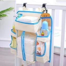 Best Buy! Baby Nursery Organizer and Crib Bumper Diaper Organizer for Bed Hanging Storage Bag Newbor...