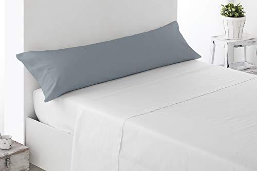 Miracle Home Housse de coussin douce et confortable en coton 50 % polyester Gris 105 cm