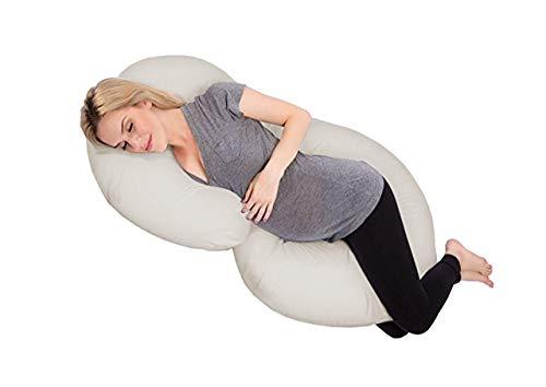 Travesseiro de Corpo Gestante com Fronha Cor Creme - Fassini Têxtil