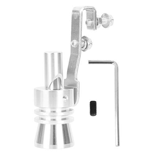 VOSAREA Auspuff aus Aluminiumlegierung, für Auto, Turbo, Sound, Pfeife, Auspuff, Simulator, Größe XL (Silber)