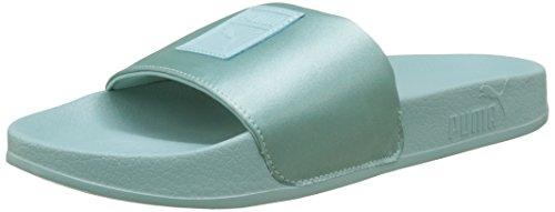 Puma Leadcat Satin Wns, Zapatos de Playa y Piscina Mujer, Verde (Aquifer), 38 EU