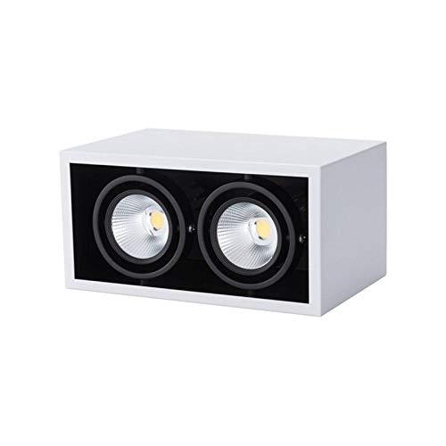 Spotbalken plafondspot wandspotlampen LED 2 koppen radiator grill downlight kledingwinkel opbouwdownlights startskant woonkamer spot licht instelbare schijnwerper