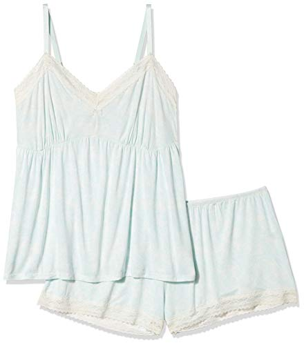 Rosie Pope Damen Pip N Vine by Lace Inser Top and Short Set Mieder, Skylight Dreams with Ivory, X-Groß