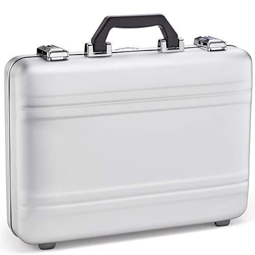 "Zero Halliburton Unisex 4"" Premier Aluminum 2.0 - Attach¿ Case Silver One Size"