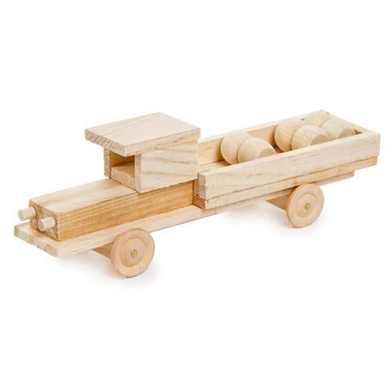 DIY Unfinished Wood Model Kit Pick Up Truck - 7-1/4 x 2-1/2 inches (1)