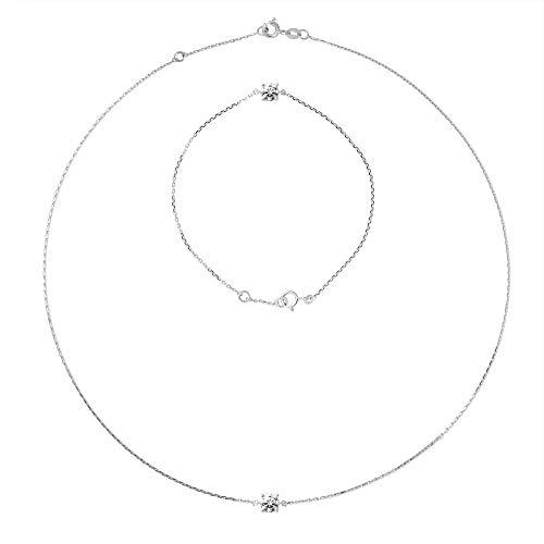 Essens - Set Halskette & Armband - Silber 925 - Damen Schmuck