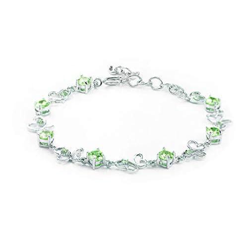 findout signore swarovsky ametista argento / blu / rosa / Multi-color braccialetto farfalla .per donne ragazze. (f1138) (verde)